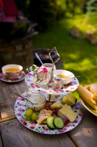 Kaffee Floral - Frühstücksgedeck