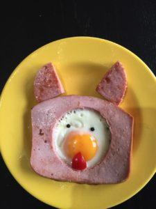 Fleischkäse mit Ei für Kids